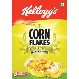 Kellogg's Corn Flakes with Real Banana Puree and Chips, 300g