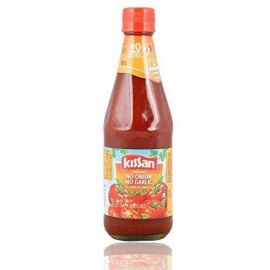 Kissan No Onion No Garlic Sauce Bottle, 500 Grams