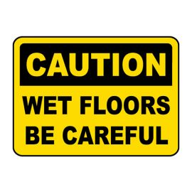 "Kleenal Cip Caution Signage""Caution Wet Floors"" Premium Quality - PK Of 2"