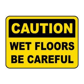 "Kleenal Cip Caution Signage""Caution Wet Floors"" Premium Quality - PK Of 2"