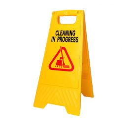 "Kleenal Cip Caution Signage""Cleaning In Progress"" Premium Quality - PK Of 2"