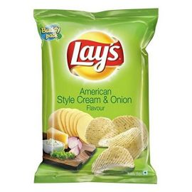 Lays Potato Chips - American Style Cream & Onion Flavour 35gm (Pack of 120)