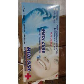 Medicare Latex Examination Gloves Box (White)-set Of 100 Pieces