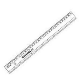 "Nataraj Plastic Scale 12"" - PK of 10"