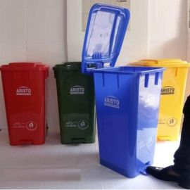 Mask Disposable Bin With Closed Lid