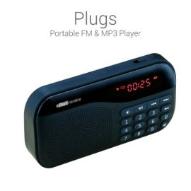 Portronics Por-143 Plugs Portable Speaker With Fm & Microsd Card Support - Black