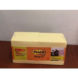 Post - It Meetings 2.0 - 3X3 Yellow Notes 11+ 1 PK