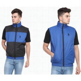 U.S. Polo Assn. Reversible Sleeveless Jacket - Black And Royal Blue(L)