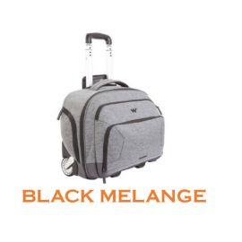 """Wildcraft Voyager Overnighter 13.5"""" Bag - Black Melange"""